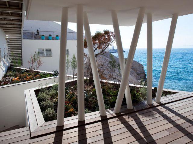 Terrasse couverte - Villa des bains de mer chauds