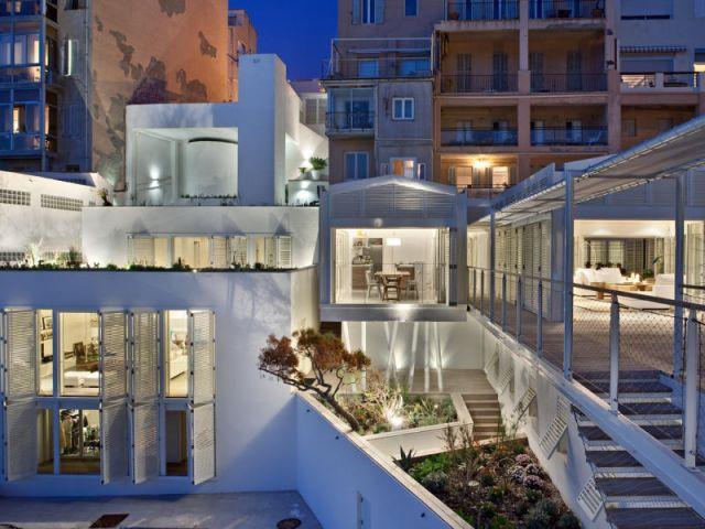 Deux maisons - Villa des bains de mer chauds