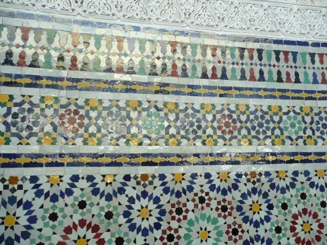 Mur de mosaïque - mosquée