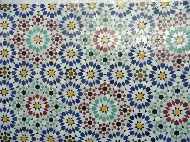 Détail de la mosaïque - mosquée