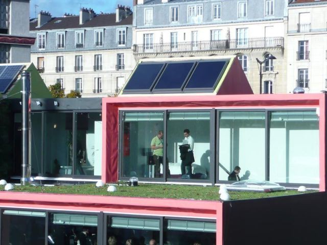 Toiture vue d'en face - be green