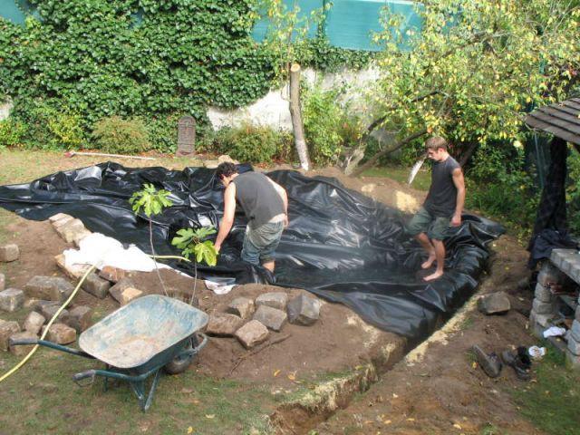Préparation sol - Bassin jardin