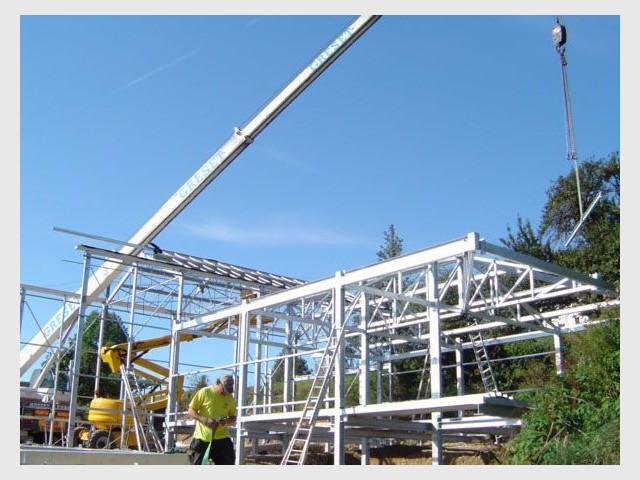 Montage de la structure acier - casaluce