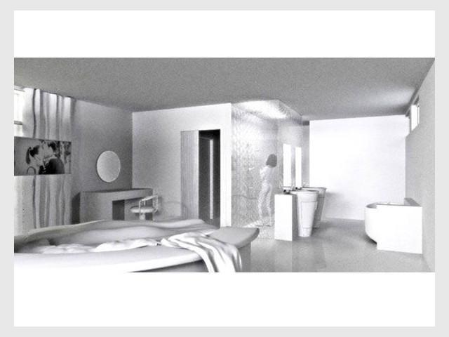Intérieur chambre à coucher - Un crazy bed