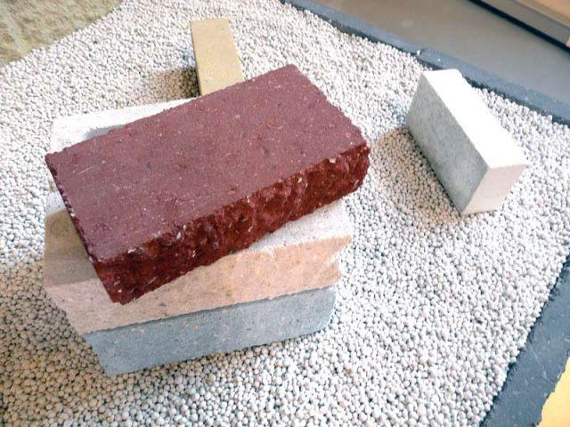 blocs béton colorés