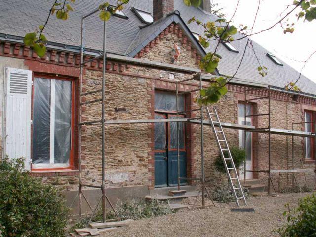 Travaux : façade Est - Maison de maître