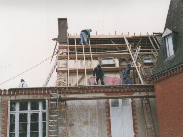 Avant : le toit - Maison de maître