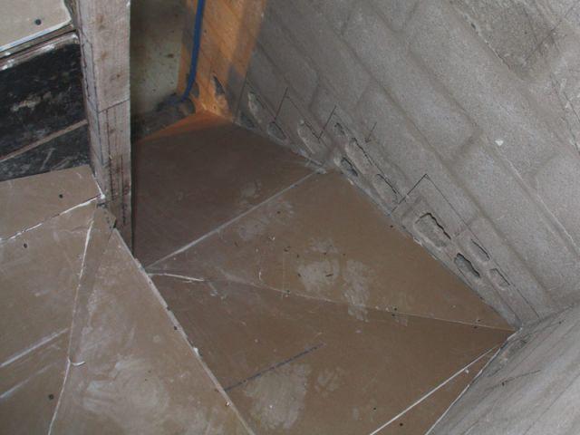 Fond de moule - escalier béton
