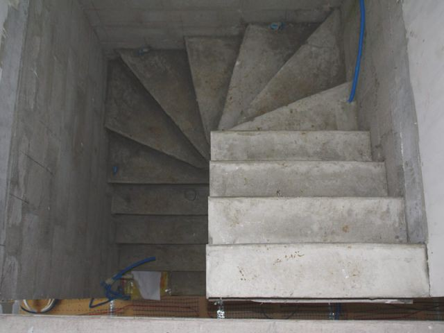 escalier quart tournant ciment