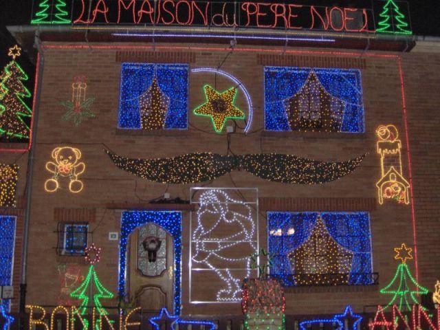 Façade - Maison illuminée - Illuminations Noël