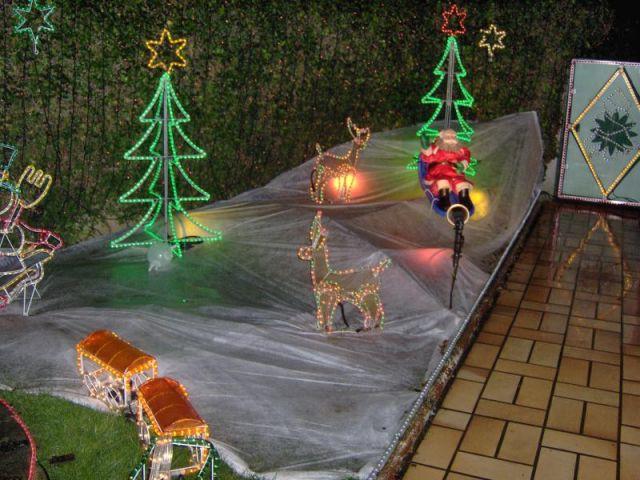 Jardin - Maison illuminée - Illuminations de Noël
