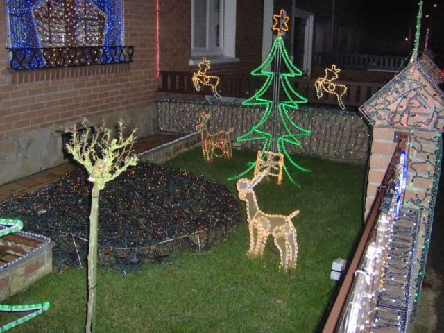 Jardin - Maison illuminée - Illuminations Noël