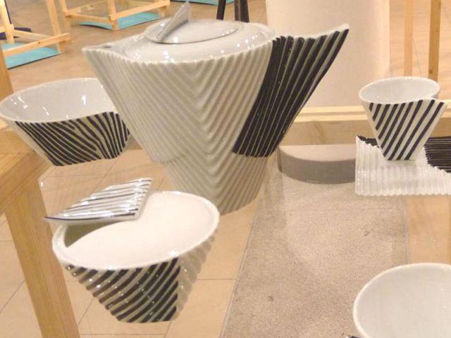 Ondes rythmées - Porcelaine
