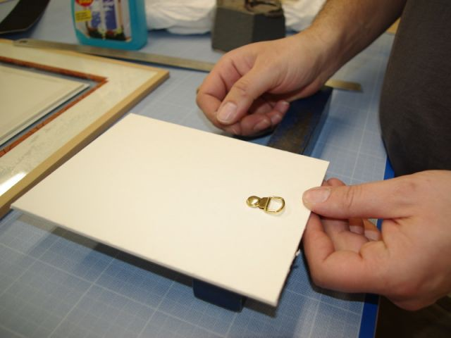Etape 8 : fabrication de l'accroche - Encadrement pas à pas