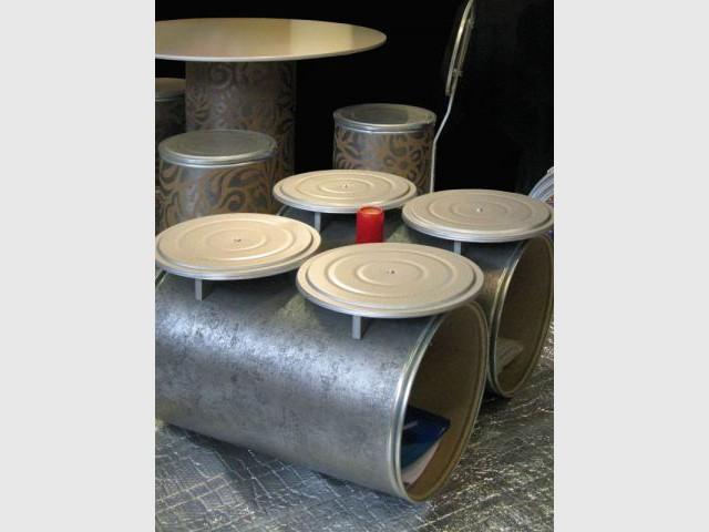 Baril industriel - Objets recyclés