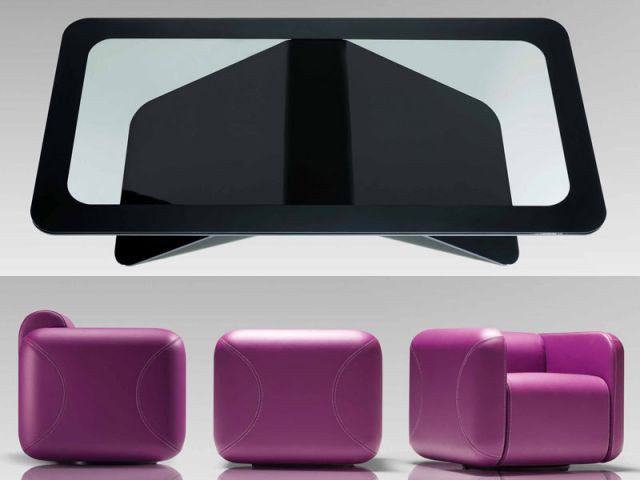 Table Vertigo et fauteuil Sweet