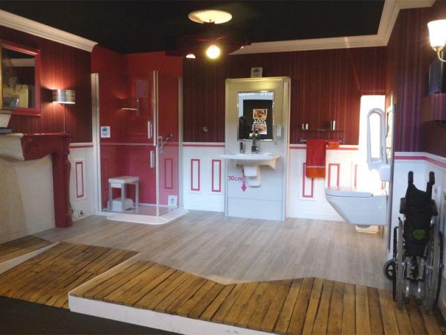 Salle de bains accessibilité