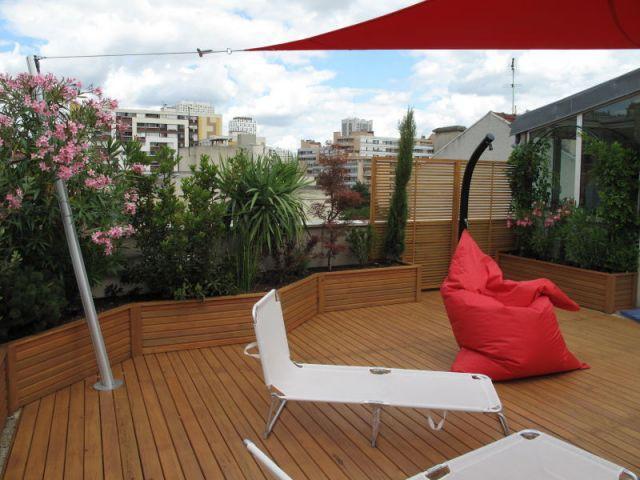 Dispositif anti vis-à-vis - Réalisation balcon - Les Terrasses d'Ile de France