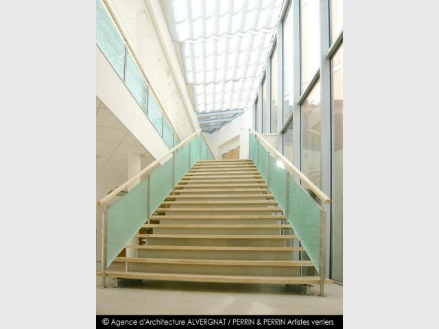 Maison de retraite Paul Thomas - Escalier - touch of glass