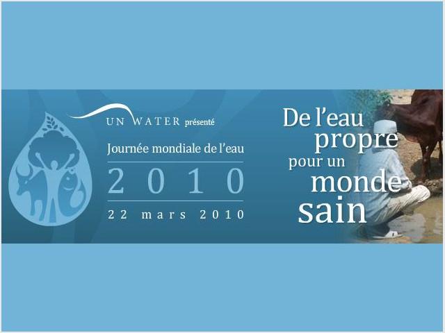 Journée mondiale de l'eau 22 mars 2010