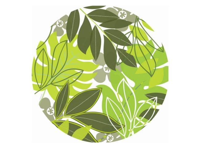 Nature verdoyante - assiette plate