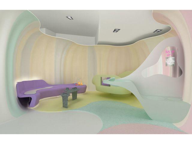 Petit salon dans la chambre - Smart-ologic Corian® Living