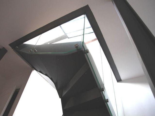 Escalier modernisé - verrière