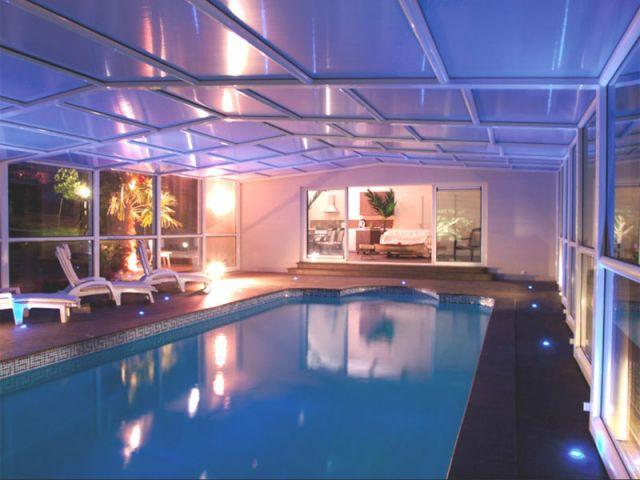 Haut télescopique - abri piscine