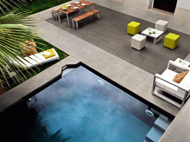 Carrelage - sol piscine
