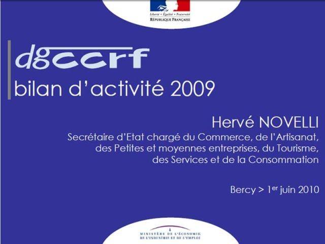 Bilan DGCCRF 2009
