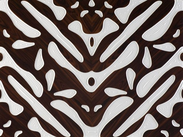 Passementerie de bois sur résine - Marotte Collection Christian Lacroix