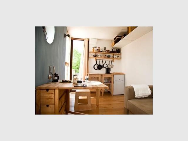 Vue intérieure - Côté cuisine - Nidom