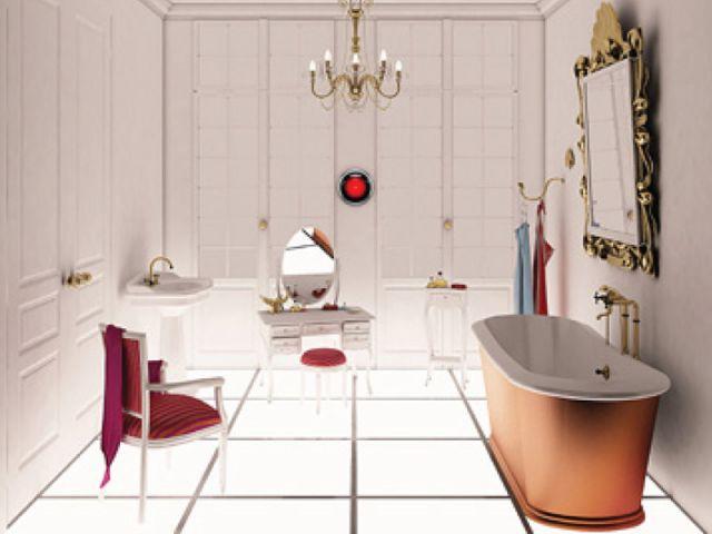 Odyssée de l'espace - salle de bains futur