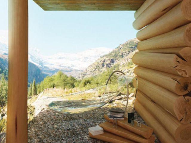 Esprit écologique - salle de bains futur