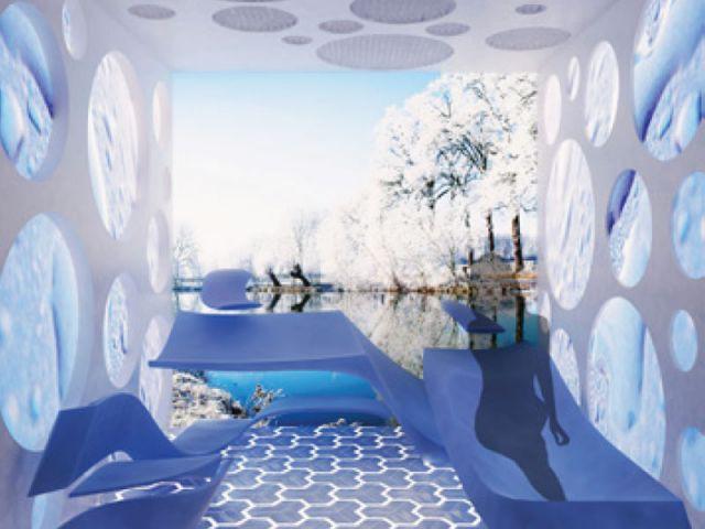 Paysages des saisons - salle de bains futur