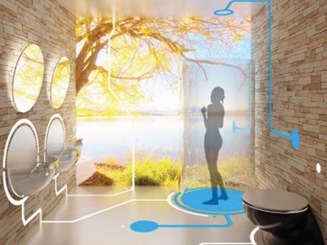Atmosphère nordique - salle de bains futur
