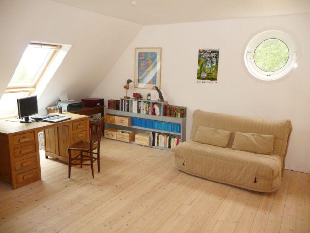 Mezzanine côté  - Reportage maison bois