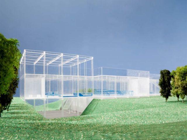 Vue extérieure - maison de verre
