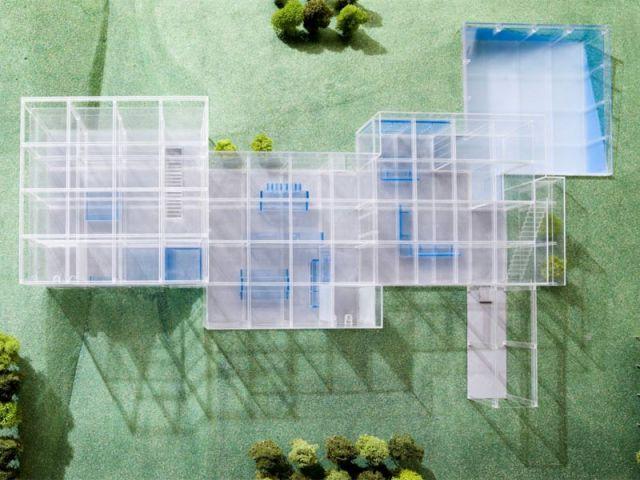 Vue de dessus - maison de verre