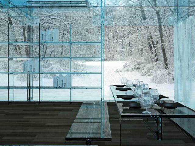 Une maison tout en verre - Le verre maison ...