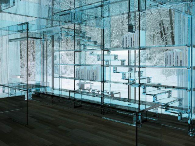 Escalier - maison de verre