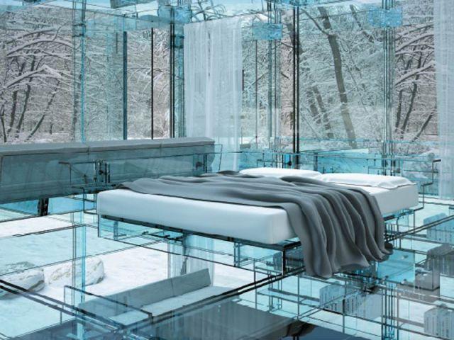 Lit - maison de verre