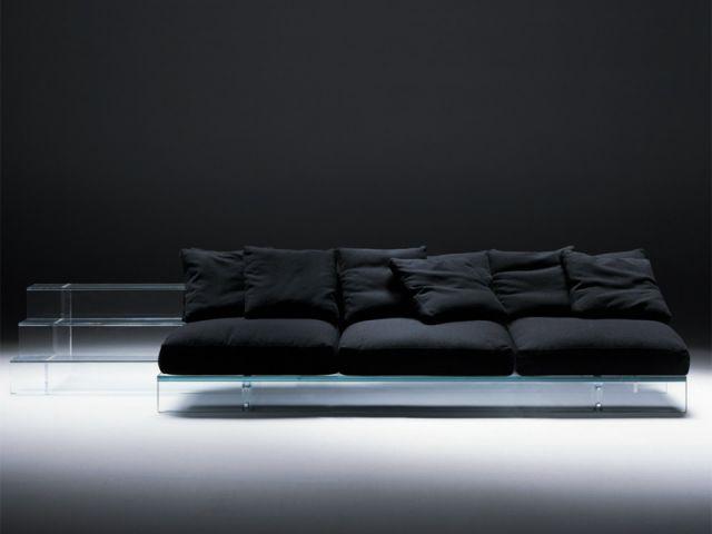 sofa de verre