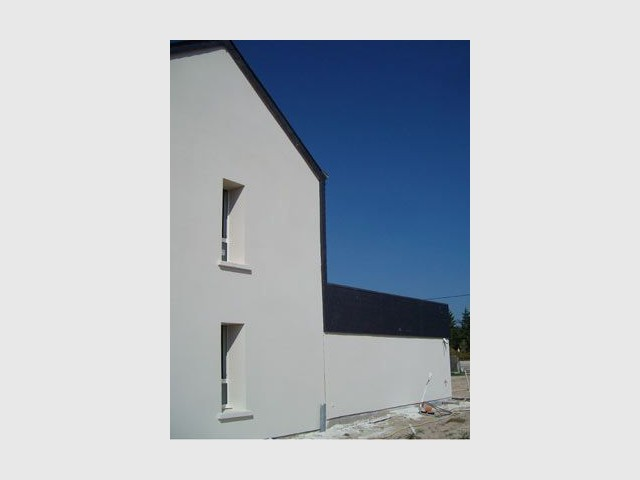 façade Est - maison bio climatique