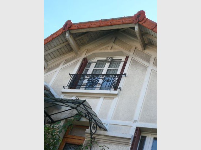 Détail façade avant - Extension chanvre - Jean-Marc Naumovic