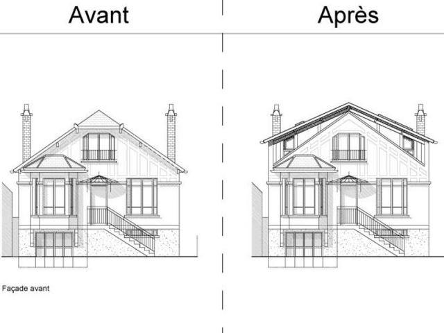 Projet travaux façade avant - Extension chanvre - Jean-Marc Naumovic