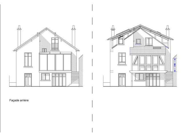 Projet travaux façade arrière - Extension chanvre - Jean-Marc Naumovic