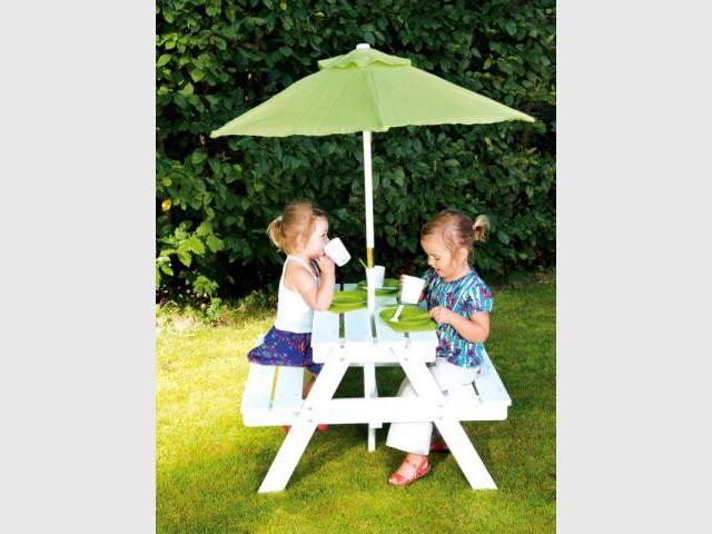 banc parasol enfant