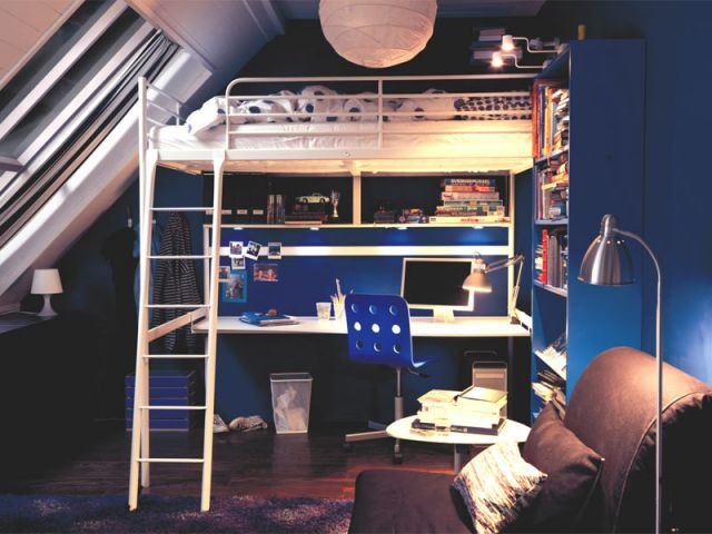 chambre lit mezzanine