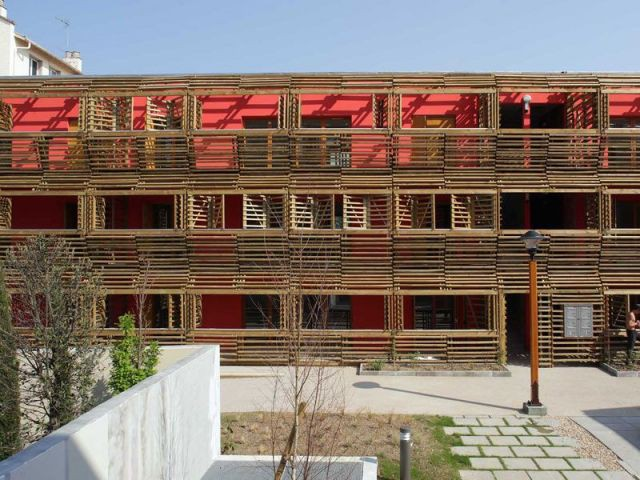 Un ensemble de logements sociaux - construction neuve